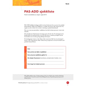 PAS- ADD sjekkliste